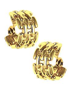 Anne Klein Gold Hoop Clip Earrings