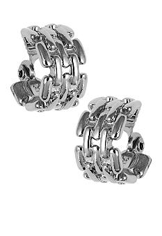 Anne Klein Anne Klein Silver Clip Earrings