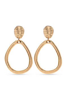 Anne Klein Gold-Tone Clip Earrings