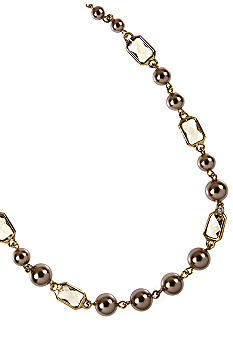 Anne Klein Champagne Pearl Collar Necklace