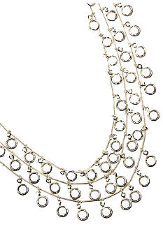 Anne Klein 3 Row Shaky Jet Necklace