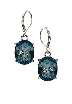 Anne Klein Aqua Drop Earrings
