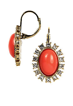 Anne Klein Coral Drop Earring