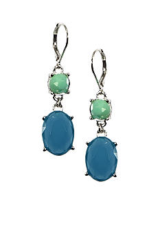 Anne Klein Blue Drop Earrings