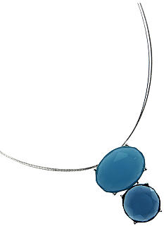Anne Klein Blue Pendant Necklace