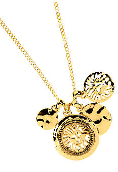Anne Klein Lion Pendant Necklace