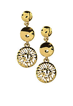 Anne Klein Lion Drop Earrings