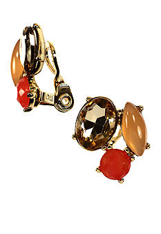 Anne Klein Burst and Bloom Cluster Clip Earring
