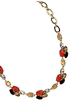 Anne Klein Burst and Bloom Collar Necklace