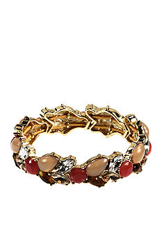 Anne Klein Burst and Bloom Stretch Bracelet