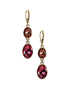 Anne Klein Rose Peach Drop Earring