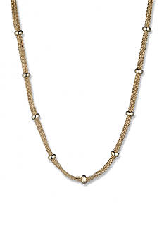 Anne Klein Gold-Tone Mesh Necklace