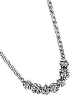 Anne Klein Silver-Tone Rondell Necklace