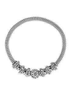 Anne Klein Silver-Tone Rondelle Bracelet