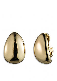 Anne Klein Gold-Tone Clip Earrings