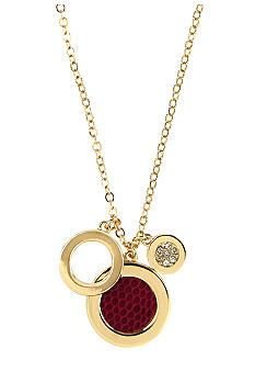 Anne Klein Cranberry Circle Drop Pendant