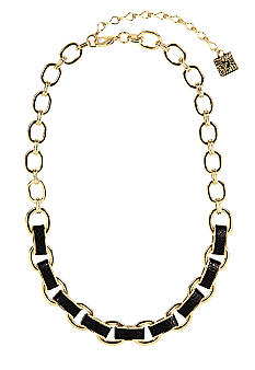 Anne Klein Jet Link Frontal Necklace