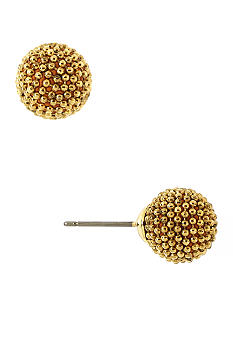 Anne Klein Gold Ball Button Earring