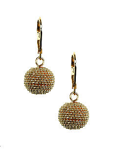 Anne Klein Gold Ball Drop Earring