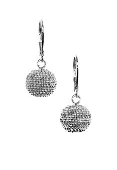 Anne Klein Silver Ball Drop Earrings