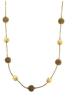 Anne Klein Gold Tone Stationed Collar Necklace