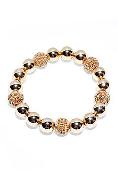 Anne Klein Gold Ball Stretch Bracelet