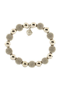 Anne Klein Silver Ball Stretch Bracelet