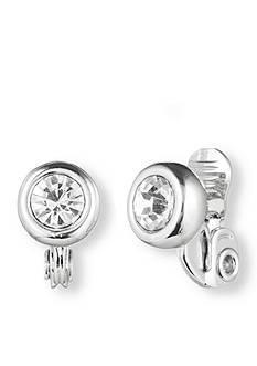 Anne Klein Crystal Stud Clip Earring