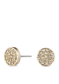 Anne Klein Gold Tone Pave Earring