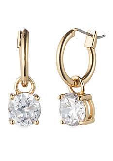 Anne Klein CZ Hoop Drop Earring