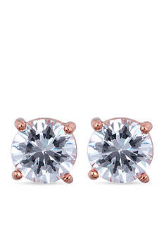 Anne Klein Rose Gold-Tone Crystal Stud Earrings