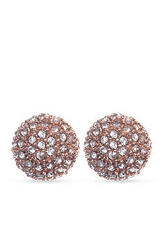 Anne Klein Rose Gold-Tone Fireball Earrings