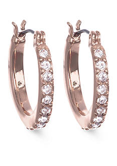 Anne Klein Rose Gold-Tone Mini Hoop Earrings