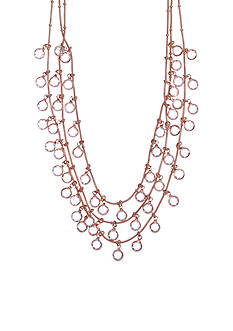 Anne Klein Rose Gold-Tone Shaky Necklace