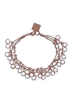 Anne Klein Rose Gold-Tone Shaky Bracelet
