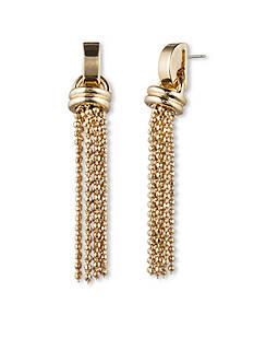 Anne Klein Gold-Tone Tassel Earring