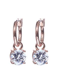Anne Klein Rose Gold-Tone Stone Drop Earrings
