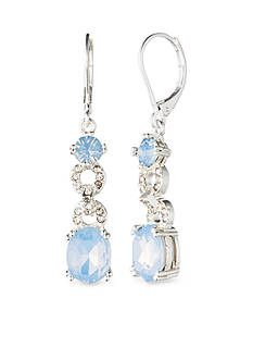 Anne Klein Blue Opal Drop Earrings