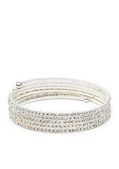 Anne Klein Multi Row Stone Bracelet