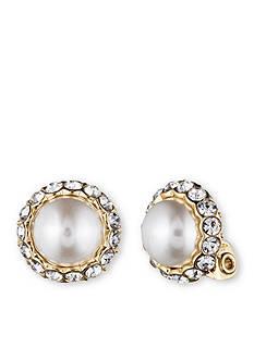 Anne Klein Pearl Clip Earring