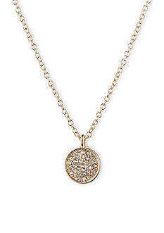 Anne Klein Gold-Tone Pave Pendant Necklace