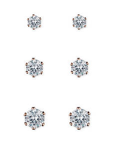 Anne Klein Crystal Stud Earrings Set