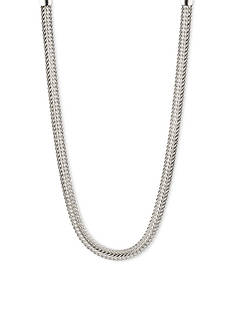 Anne Klein Silver-Tome Collar Necklace