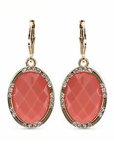 Anne Klein Coral Drop Earrings