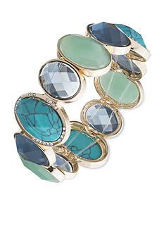 Anne Klein Turquoise Stretch Bracelet