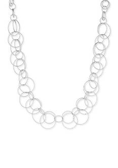 Anne Klein Silver-Tone Link Necklace