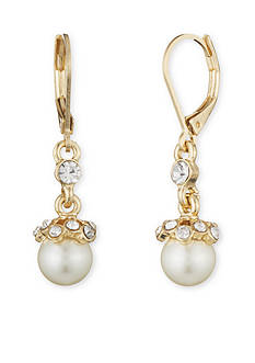 Gold-Tone Anne Klein Pearl Drop Earring