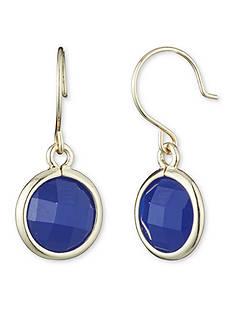 Anne Klein Gold-Tone Cobalt Drop Earrings