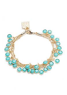 Anne Klein Turquoise Multistrand Shaky Bracelet