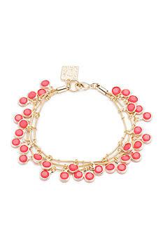 Anne Klein Gold-Tone Coral Bead Multistrand Shaky Bracelet